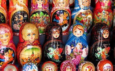 Russian Matryoshka Dolls (nesting dolls) in Moscow. Flickr:neiljs
