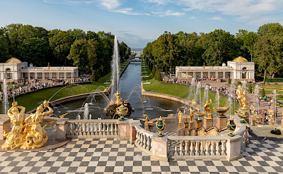Peterhof Palace and Gardens are a sight to see in St Petersburg, Russia. Flickr:Ninara