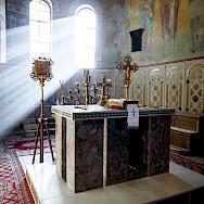 Inside a church in Staraya Russa, Russia. Flickr:Saint Petersburg Theological Academy