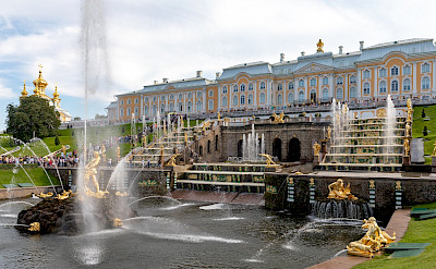 Russian Versailles is the complex of Peterhof Palace and Gardens in St Petersburg, Russia. Flickr:Ninara