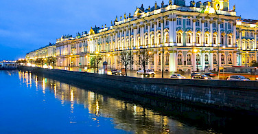 Saint Petersburg on the Neva River, Russia. Photo via Flickr:Ninara