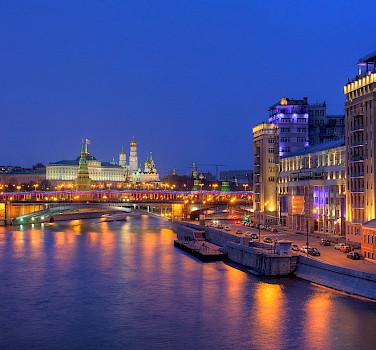 Volga River to the Kremlin in Moscow, Russia. Flickr:Pavel Kazachkov