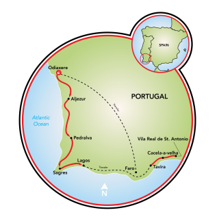 Algarve, A Coastline of Fortresses Map