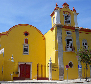 Church in Tavira, Portugal. You'll bike past great architecture! Photo via Flickr:girolame