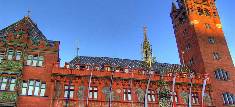 Rathaus in Basel, Switzerland. Photo via Flickr:Martina Begglen