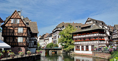 Typical half-timbered homes in Strasbourg, Alsace, France. Photo via Flickr:Alexandre Prevot