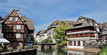 Typical half-timbered homes in Strasbourg, Alsace, France. Photo via Flickr:Alexandre Prevot