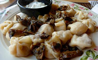 Plate of pelmeni. Photo via Flickr:Rusty Clark
