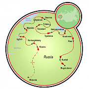Golden Ring of Russia Map