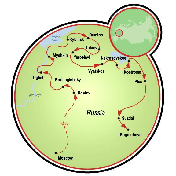 Golden Ring Of Russia Bike Tour
