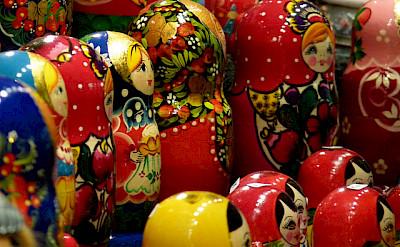 Russia dolls make great souvenirs! Photo via Flickr:kilgarron