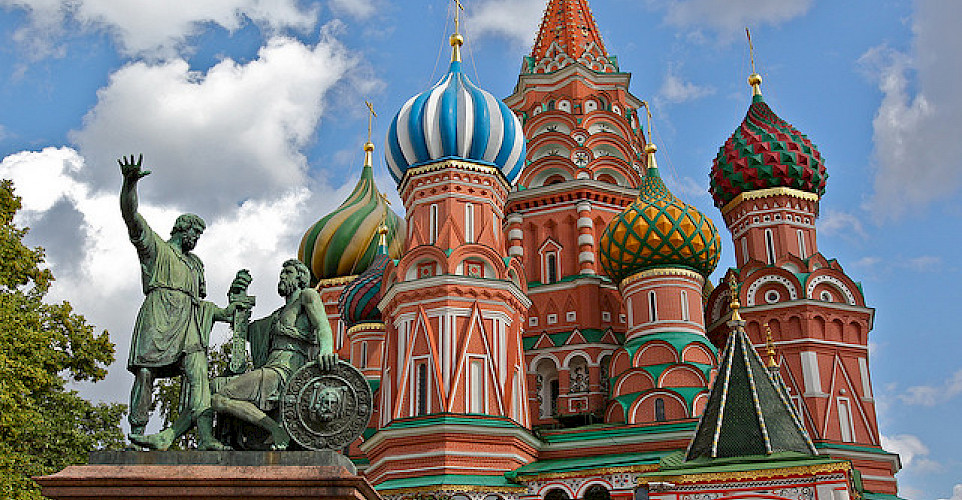 St. Basil's Cathedral, Red Square. Photo via Flickr:jurvetson