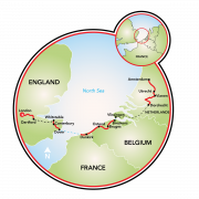 London to Amsterdam Map