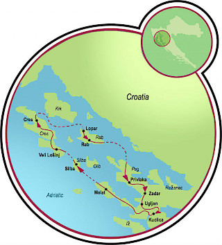 Along the Dalmatian Coast Map