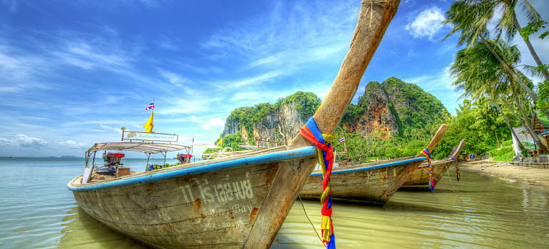Krabi in Southern Thailand. Photo via Flickr:Mike Behnken