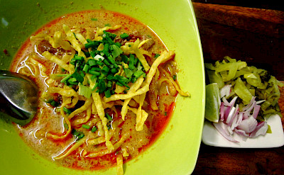 Northern Thai Curry noodles. Photo via Flickr: veer66