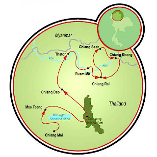 Northern Thailand Map