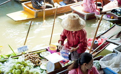 Thailand is known for its Floating Markets. Flickr:Colin Tsoi
