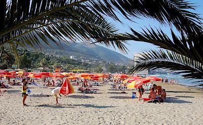 Beach in Vlorë, Albania. Flickr:godo godaj