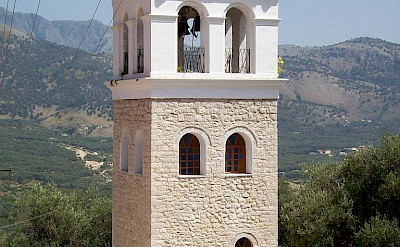 Church Bell Tower in Himara, Albania. CC:Decius