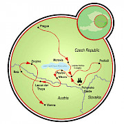 Wine Trail between Prague and Vienna Map
