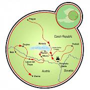 Wine Trail between Prague and Vienna Map