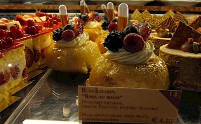 Tasty dessert treats for bike fuel in Vienna, Austria. Flickr:Su-May