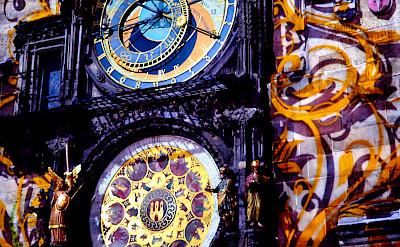 Prague Old Town's famous Astronomical Clock. Flickr:Moyan Brenn