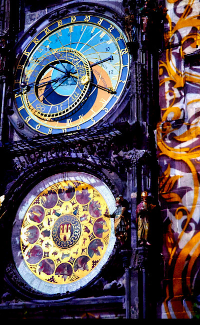 Prague Old Town's famous Astronomical Clock. Flickr:Moyan Brenn