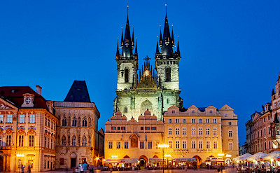 Famous Old Town Square in Prague, Czech Republic. Flickr:Pedro Szekely