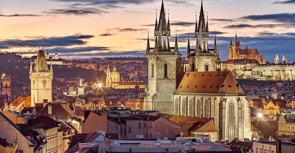 Prague, view from Powder Tower, Czech Republic. Flickr:Jiuguang Wang