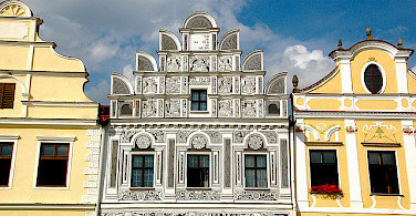 Mikulov's beautiful gables! Moravia, Czech Republic. Photo via Flickr:kpi