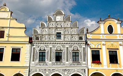 Mikulov's beautiful gables! Moravia, Czech Republic. Flickr:kpi