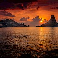 Sunset in Aci Trezza, Sicily, Italy. Flickr:andrea