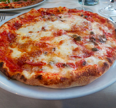 Pizza in Sicily to fuel the bike rides! Flickr:Ania Medrek