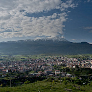 View of Mt Etna from Randazzo, the closest town to the summit. Catania, Sicily, Italy. Wikimedia Commons:Luca Sartoni