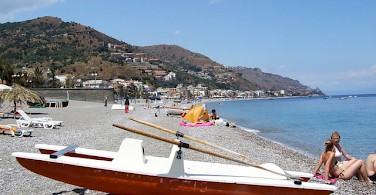 Bike rest on the coast of Taormina, Sicily. Photo via Flickr:gnuckx