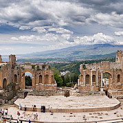 Sicily: Mt Etna, Taormina, and the Ionian Sea Photo