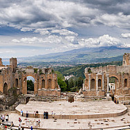 Ancient Greek Theatre in Taormina, Sicily, Italy. Flickr:Bart Hiddink