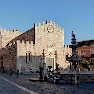 Duomo in Taormina, Sicily, Italy. Wikimedia Commons:Berthold Werner