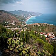 View of the Sea from Taormina, Sicily, Italy. Flickr:Marek Lenik