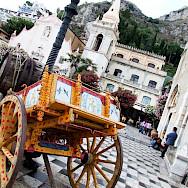 Main square in Taormina, Sicily, Italy. Flickr:gnuckx CC0
