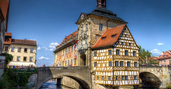 "Old ""rathaus"" in Bamberg. Photo via Flickr:magnetismus"