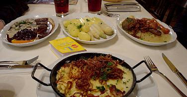Typical Bavarian food. Photo via Flickr:celesteh