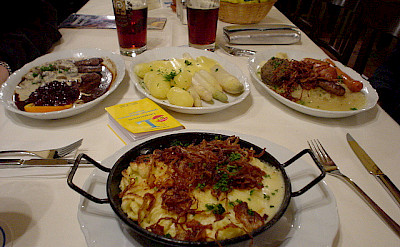 Typical Bavarian food. Photo via Flickr:celesteh
