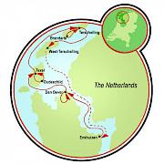 Navegando el Mar de Frisian Mapa