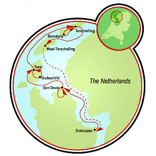 Bike and Sail the Frisian Sea Map