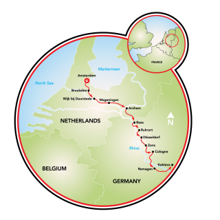 Amsterdam to Koblenz and Koblenz to Amsterdam Map
