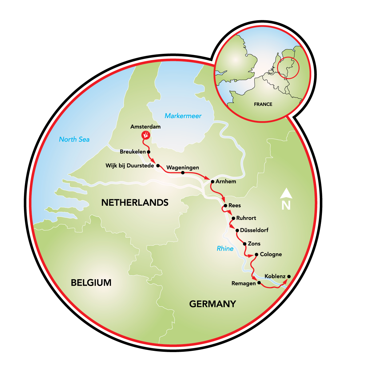 Amsterdam To Koblenz Bike And Barge Tour Netherlands Germany Tripsite