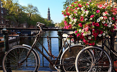 Bike rest in Amsterdam, North Holland, the Netherlands. ©TO